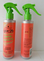 Lot 2 Schwarzkopf Got2B MessMerizing Hair Sculpt Spritz Spray 6.8oz - $12.86