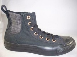 Women's CONVERSE ALL STAR Black Lace Up High Top Sneakers 554855F NEW - $26.25