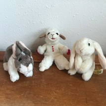 Lot of Small Folkmanis Mary Meyer Plush Wildlife LOON Fawn MOOSE Fox Finger & - $14.89