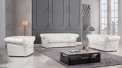 American Eagle AE502-IV Sofa Loveseat and Chair Contemporary Modern Leather 3pc