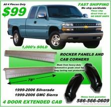 Chevrolet Silverado GMC Extended Cab Rocker Panels And Cab Corners 1999-... - $96.03