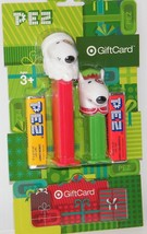 New Exclusive Target Dog Bull Terrier Bullseye Santa & Elf Pez 2 Pack Gi... - $7.69