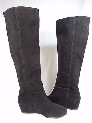 BCBG Isanna Knee High Suede Boots Women's Size US 5.5 M (B) Black $189