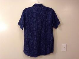 Mens Polo by Ralph Lauren Navy Blue Light Blue Floral Design Cambridge Shirt L image 2