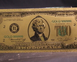 24k gold  2 dollar colorized banknote front view thumb155 crop