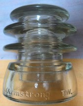 vintage ARMSTRONG  T.W. w/ A CIRCLED insulator  cd-203 type-CLEAR exc co... - $15.00