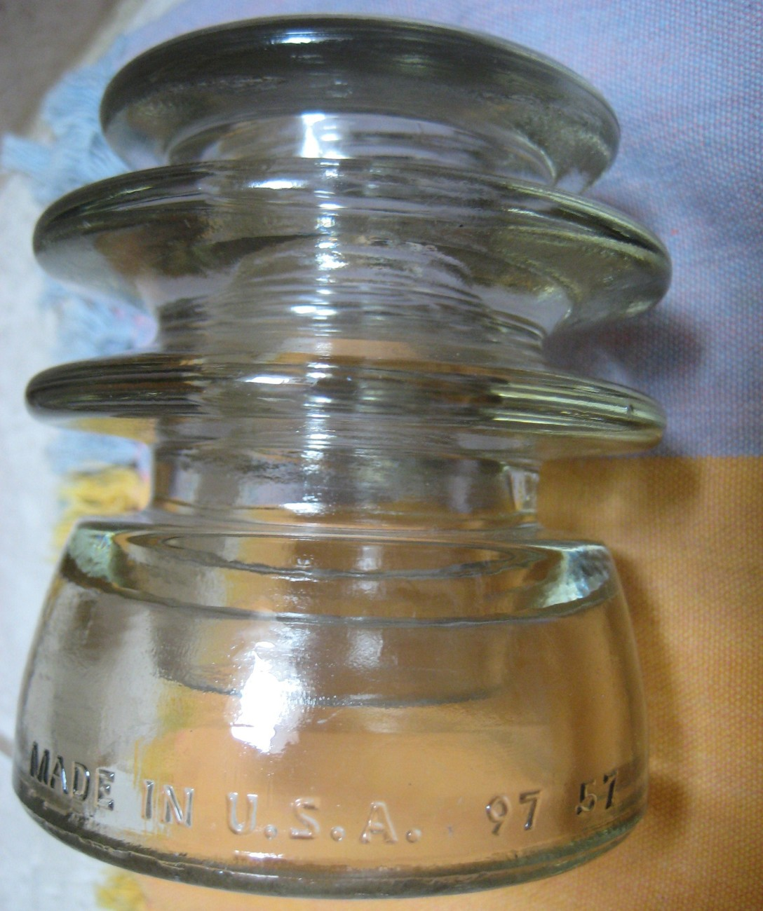 vintage ARMSTRONG  T.W. w/ A CIRCLED insulator  cd-203 type-CLEAR exc cond -1957