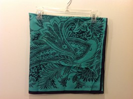 Gina Ruccini 100% Polyester Emerald Green Black Paisley Nature Themed Scarf image 4