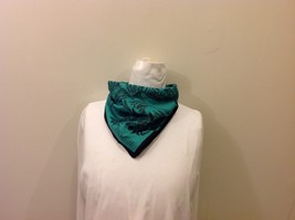 Gina Ruccini 100% Polyester Emerald Green Black Paisley Nature Themed Scarf image 5