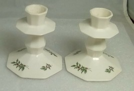 """Nikko Christmastime 4"""" Pair Of Candle Holders In Original Box - $19.55"""