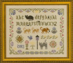 Cat and Mouse Sampler cross stitch chart Elizabeth's Designs  - $8.10