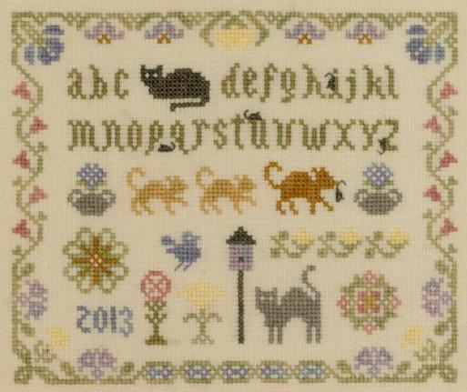 Cat and Mouse Sampler cross stitch chart Elizabeth's Designs