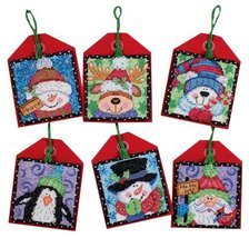Craft Cross Stitch Kit Dimensions Needlecrafts Counted Christmas Pals EKS - $27.06
