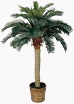 Artificial Silk Palm Tree Indoor 4 Ft Tropical ... - $75.82