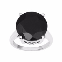7.90 Carat Shining Black Spinel Solid Gemstone 925 Sterling Ring Sz 7 SH... - $19.41