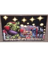 Hulk vs Superman Boxing Match Glossy Art Print 11 x 17 In Hard Plastic S... - $24.99