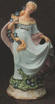 Ceramic Bisque Fantasy Maiden w/ Flowers in her Hair  Ready to Paint U P... - $19.99