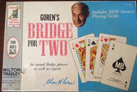 "VINTAGE MILTON BRADLEY ""BRIDGE FOR TWO"" GAME, 1964, PRINTED IN U.S.A.. - $9.50"