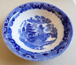 "VTG Semi China W. Ridgway Blue Willow 6.5"" cereal Bowl Made England - $20.79"