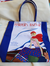 Estee Lauder Harper's Bazaar Magazine Tote Shopping Bag Retro New - $17.82