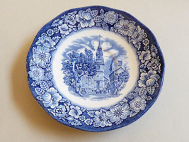 Liberty Blue Historic Colonial Scenes Old North Church England Blue saucer - $15.84