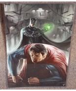 Batman vs Superman Beatdown Glossy Art Print 11 x 17 In Hard Plastic Sleeve - $24.99