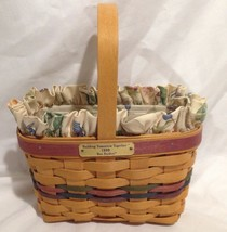 Longaberger 1999 Bee Basket Combo w/ Protector & Botanical Fields Liner New - $24.45