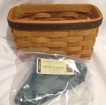 Longaberger 2004 Holiday Helper Basket Combo w/ Protector & Ivy Liner New - $29.35