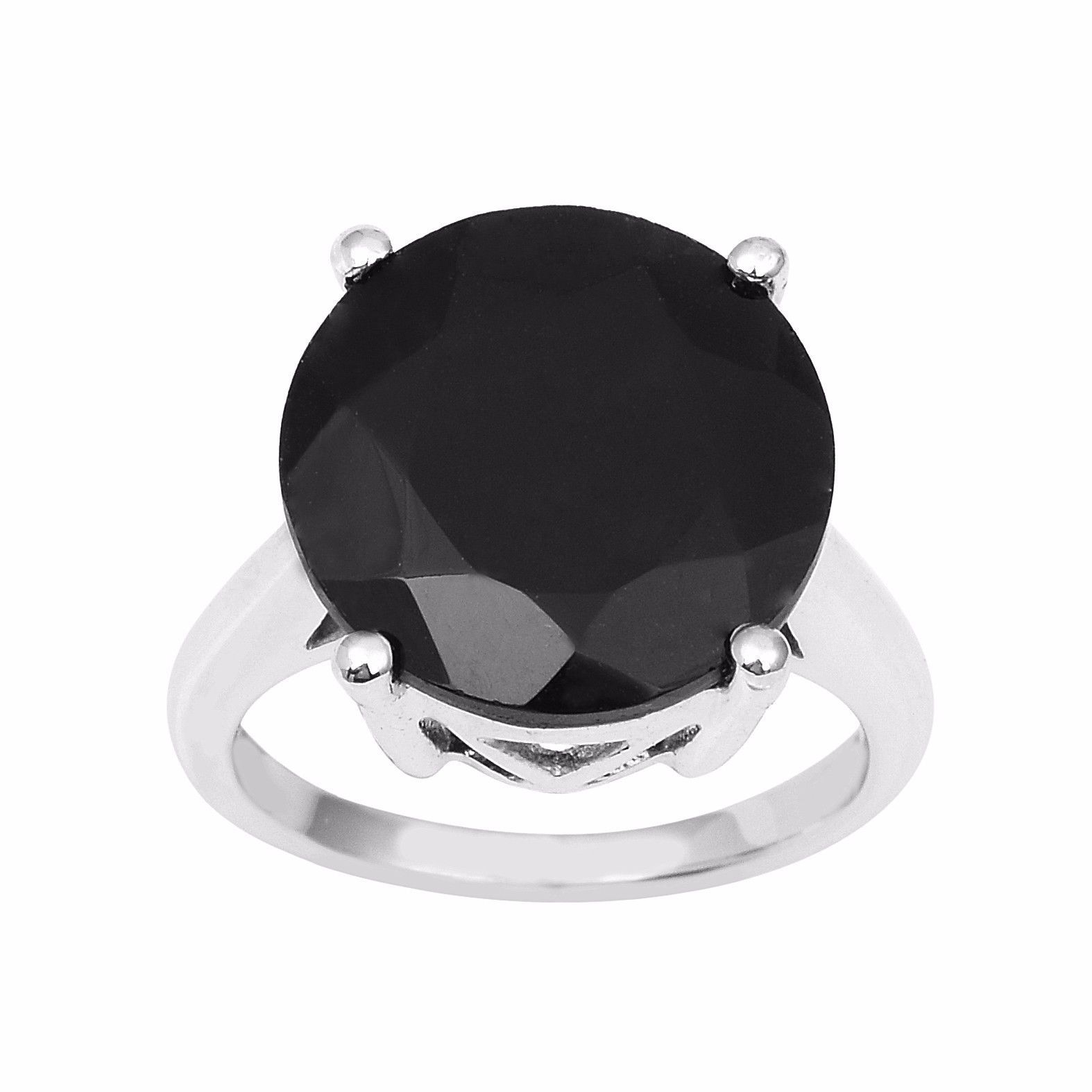 7.90 Carat Shining Black Spinel Solid Gemstone 925 Sterling Ring Sz 7 SHRI0911