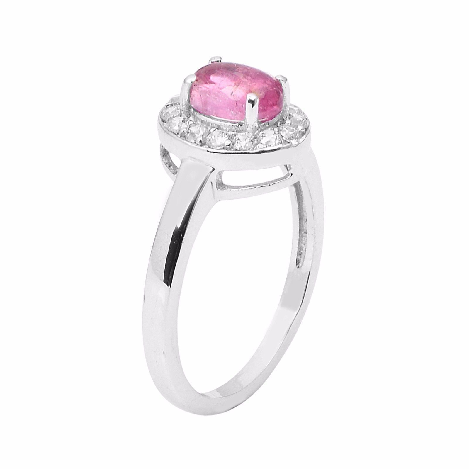Women Engagement Special Jewelry Pink Tourmaline Stone Silver Ring Sz9 SHRI0912