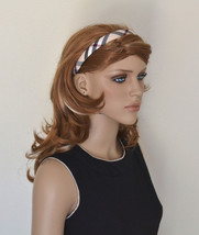 New Beige Plaid Checkered Headband Hair Accessories High Quality Handmad... - $4.74+