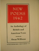 1942 NEW POEMS Anthology Oscar Williams [1ST] poetry - $35.00