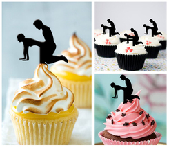 Ca58 cupcake toppers Sex Positions Package : 10 pcs - $10.00
