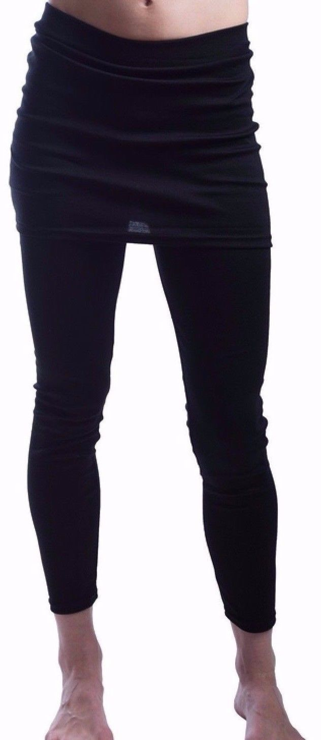 85673c757 Wear Freedom Black Ankle Length Leggings w/Skirt 1 Size Fits All up ...