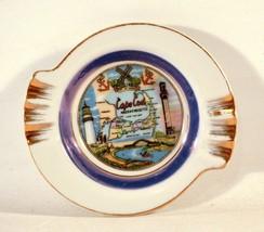 Vintage Porcelain Souvenir Ashtray Cape Cod Massachusetts - $10.89