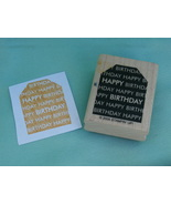 Happy Birthday Gift Tag Style Rubber Stamp by STAMPIN' UP! 2005 - $2.99