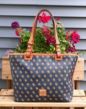 Dooney & Bourke Navy Blue Gretta Leisure Shopper Tote Bag  - $100.00