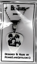 NEW BEATLES GUITAR PICK NECKLACE &  PAIR OF EARRINGS MADE w SWAROVSKi CR... - $9.89