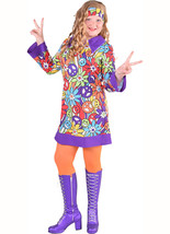 Girls 60's / 70's Hippy Dress , (with sleeves)  - $29.20