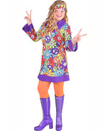 Girls 60's / 70's Hippy Dress , (with sleeves)  - $28.88