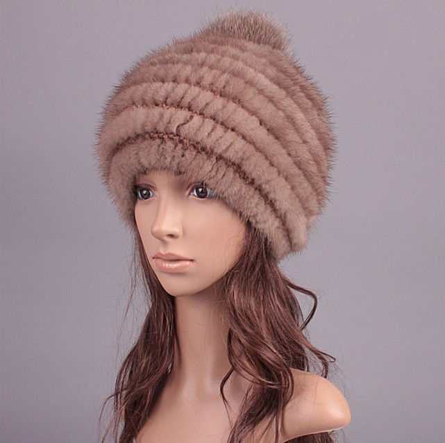 c4a439b37 Womens Knitted Mink Hat Vintage Mink fur and 21 similar items