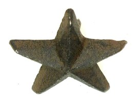 Set of 12 CAST IRON Mini Small Nail Star Western Wall Decor - $17.81