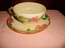 Franciscan Desert Rose 4 Cups & Saucers 1960s TV Backstamp USA  - $18.68