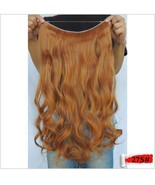 "MEDIUM HONEY BLONDE #27S HALO STYLE HAIR EXTENSIONS 20"" PRINCESS TRESSES - $31.68"