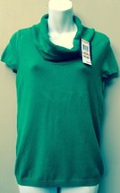 Women's P/S NWT Green Cowl Neck Pullover Sweater Top Petite Sm. MSRP$49.... - $22.51
