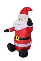 4-foot Christmas Inflatable Santa Claus Blow Up Holiday Yard Decoration - $57.30