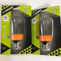Lot Of 2 Gemmy LED Short Circuit Light Bulb Classic White Haloween Flick... - £18.59 GBP