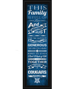 "Columbia College Cougars -  24x8 ""Family Cheer"" Framed Print - $39.95"