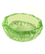 Oval Depression Green Glass Open Salt Dip Cella... - $12.95