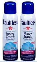 2 x Faultless Original Fresh Scent Heavy Starch, 20 oz Each Fast Shipping - $11.75